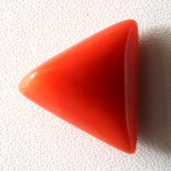 Natural Triangular Red Coral (Moonga) - 9.75 carats