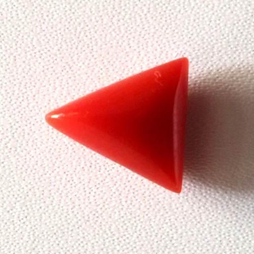 Natural Triangular Red Coral (Moonga) - 5.50 carats